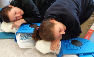 Assessing breathing during CPR training