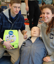 Participants with AED and manniken